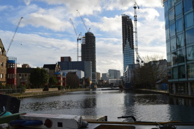 City Road Basin and new towers