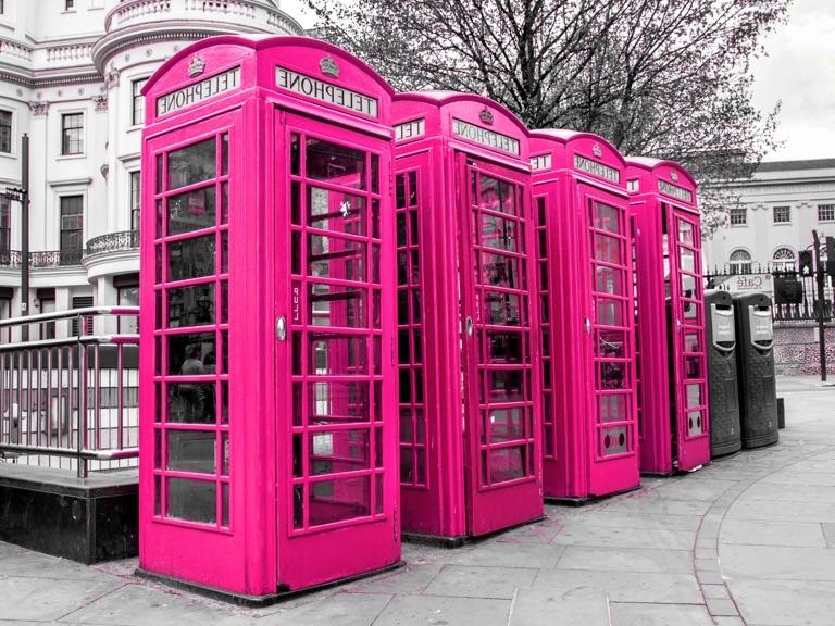 7 lugares em Londres maravilhosamente rosas