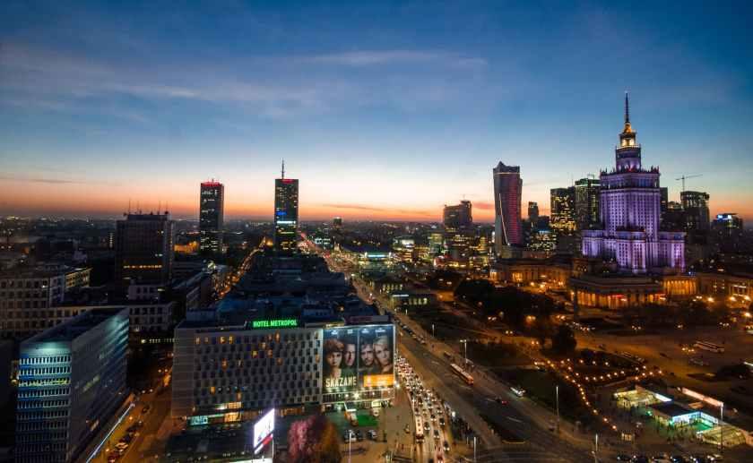 city lights night buildings